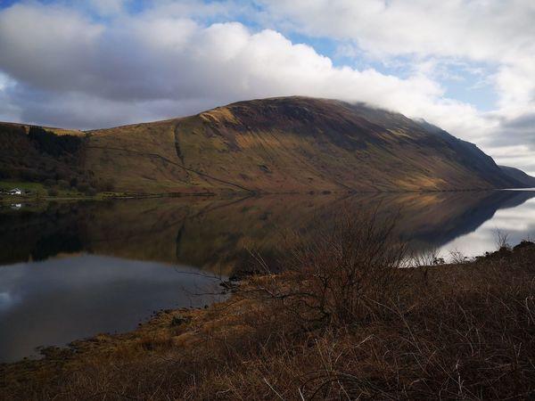 waswater reflections Lake Landscape Cumbria England UK Huaweiphotography Thisisengland EyeEm Selects Water Mountain Lake Hiking Sky Landscape Cloud - Sky Volcanic Landscape Volcanic Rock Foggy