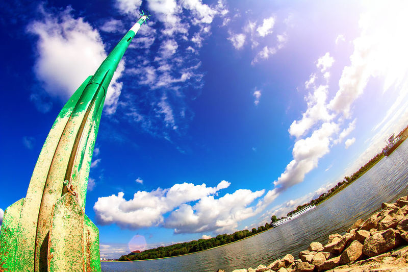 8mm EyeEm Gallery Marcin Adrian NRW Rhein Rhine Riverside Beauty In Nature Blue Cloud - Sky Fisheye Fisheye Lens Fluss Focus On Foreground Landscape No People Outdoors Plant River Sea And Sky Sea Mark Seamark Seascape Sky Sunlight