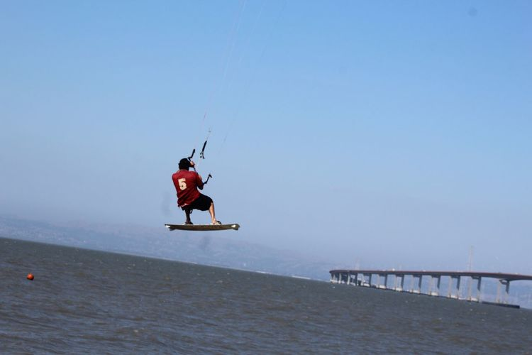 Kitesurfing Kite Surfing San Francisco Bay EyeEm Gallery Eyemphotography San Mateo Bridge Eyem Gallery Airshow Air Jordan