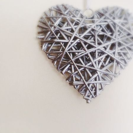 Woven heart shaped wall hanging Abstract Basket Weave Black And White Close-up Composition Detail Heart Heart Shape Heart Shaped  Simplicity Single Object Soft Focus Still Life Textured  Wood - Material Woven