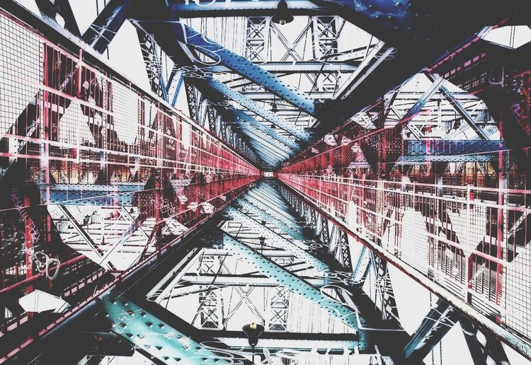 Negative Space The Best Of New York Damien Guyon - Endymion Photographies - Laputa Project - Website : http://endymion-photo.com Bridge Architecture ArtWork Reflection Red Contrast Colors NYC