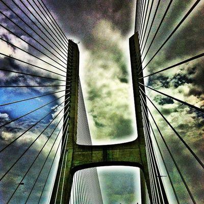 Vai Chuver !!! Bridge Winter Vascodagamabridge Portugal Engineering