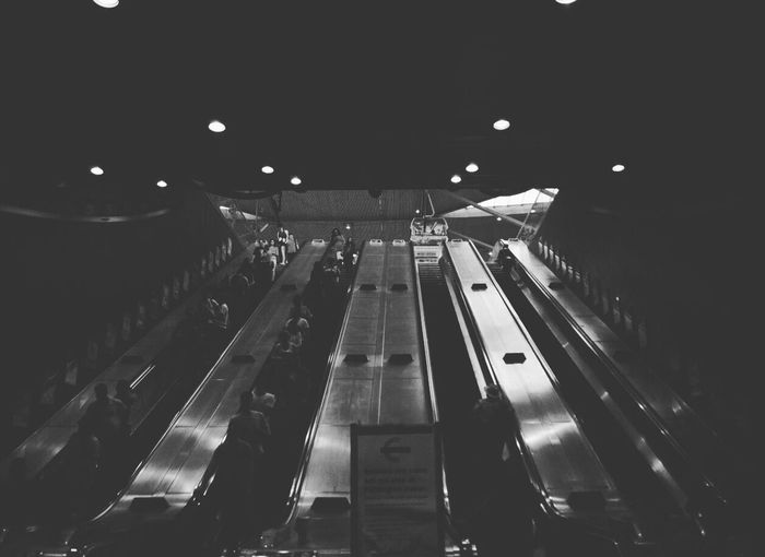 Symmetrical mechanics Symmetry Blackandwhite Modern Transportation Road High Angle View Illuminated Empty Mode Of Transport Night Long Dark City Life Airport Runway The Way Forward Vacations Electric Light Tourism First Eyeem Photo