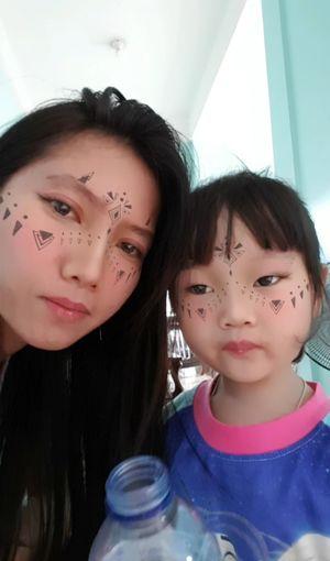 with my niece..my little Princess😗. Its raining outside...stay at home!! ShesWaitingforMommy Wonderhowmyfuturekidswilllook:) Whenigetmarried OneDay👪