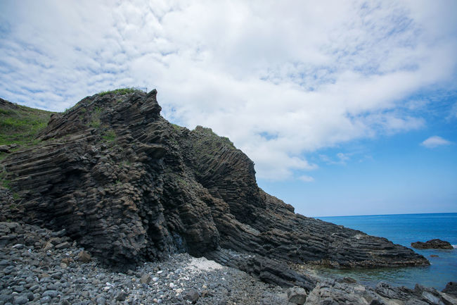 Basalt Rock Beauty In Nature Cloud - Sky Nature No People Outdoors Rock - Object Sea Sky Transformers