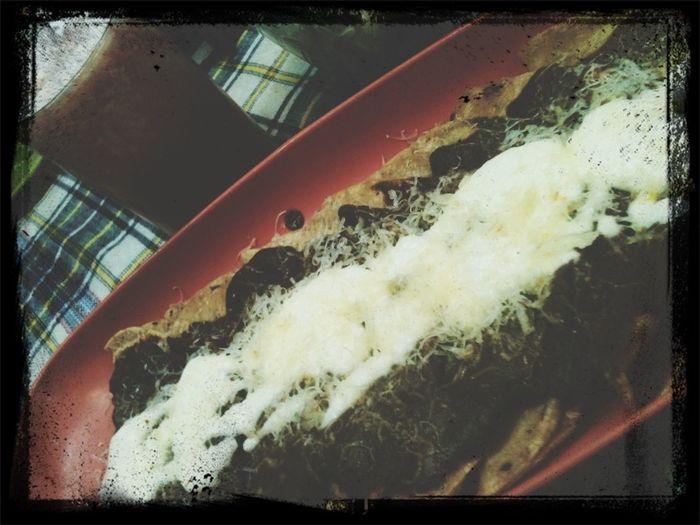 En moladas con agua de piña con fresa! :P
