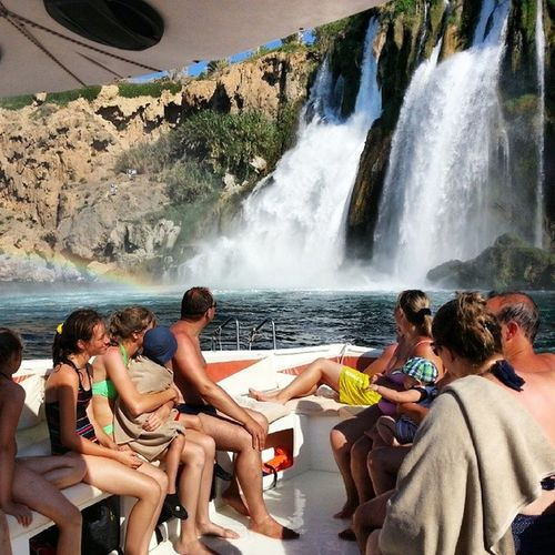 Antalya Lara Heaven Dolphins Sea Falez Rainbow Waterfalls Rocks Boat Tour Likeforlike Like4like Likealways Follow Onmyway