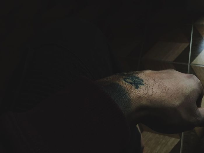 Honesty Tattoo Human Body Part Indoors  Close-up Day Black Ink