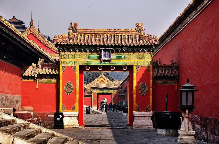 Red gate in Forbidden City, China Architecture Built Structure Building Exterior Travel Destinations Outdoors Day Real People Large Group Of People History Men Women Sky People Togerherness Walking The Week On EyeEm Travel Photography Ancient Architecture Architectural Column Forbidden City Beijing, China Walking Together Red Gate Travel Destination Traveling In China
