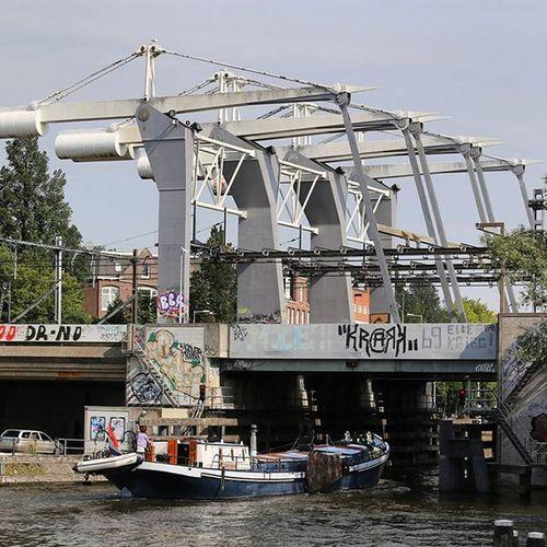 Westerdokskade Bridge Train Westerdokskade Amsterdamcitycentre Amsterdam @canonnederland Canon Canon6d Canon_official Your Amsterdam