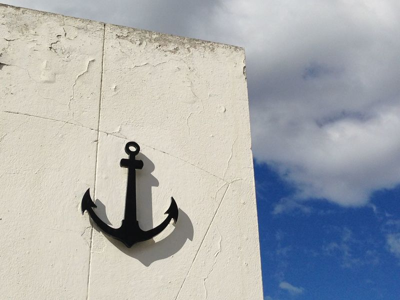Anchor Argentina Cloud Cloud - Sky Low Angle View Patagonia Argentina Rusty Sky White Wall