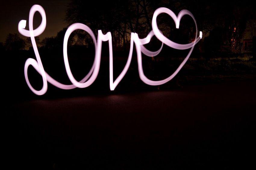 Night Love No People Neon Light Painting Outdoors Lights Dark