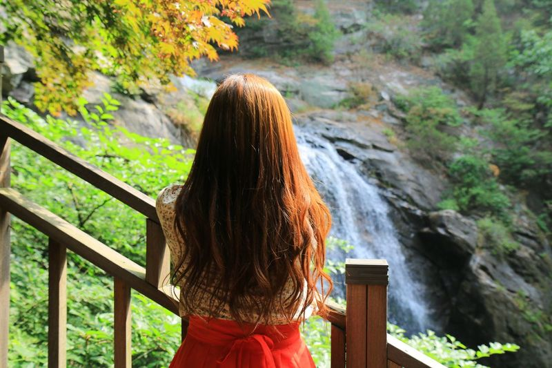 EyeEm Nature Lover EyeEmNewHere Fashion Let Your Hair Down Taking Photos Travel Beauty In Nature Casual Clothing Enjoying Life Hanbok Leisure Activity Lifestyles Long Hair Nature One Person Outdoors People Portrait Real People Standing Style Tree Water Waterfall Women