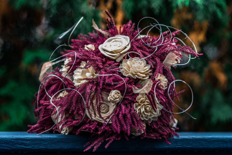 Focus On Foreground Close-up Plant Pink Color Art And Craft Flower Day Craft Clothing Wool Nature No People Flowering Plant Outdoors Creativity Textile Fashion Material Ball Of Wool Multi Colored Flower Arrangement Bouquet Luxury