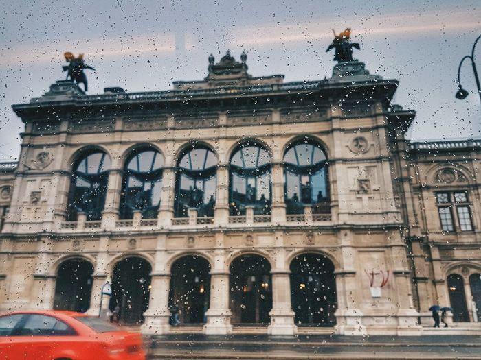 Rainy day in Vienna Austria ❤ Vienna Vienna_city Vienna, Austria Water Architecture Window Car Wet Day Building Exterior Built Structure Outdoors No People Sky