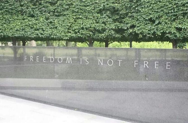FREEDOM IS NOT FREE Freedom Freedom Is Not Free Not Free Trees Monument How True Is This? Reflection