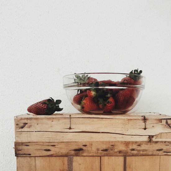Strawberry Colors Morning Minimalism Nature Fruits