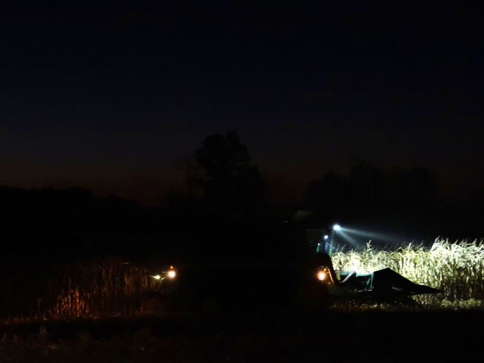 Harvesting Time Illuminated Nature Night Nighttime Photography No People Outdoors Silhouette Sky