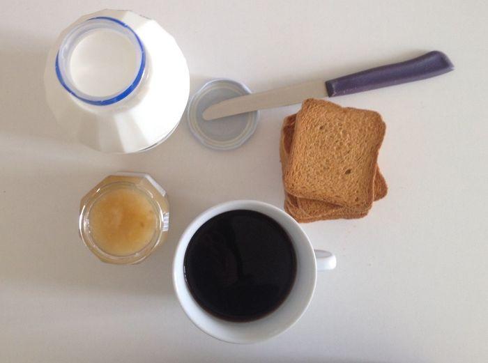 My Breakfast Sweet Italian Breakfast Good Morning Milk and Coffee Simplicity Minimalism White