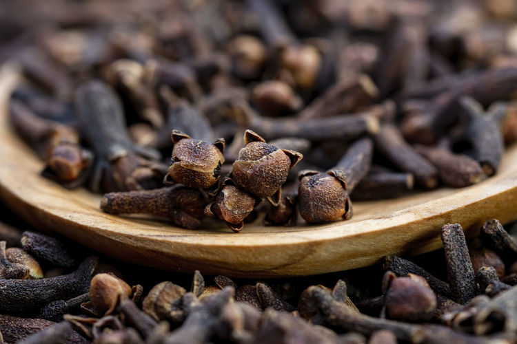 Cloves are the aromatic flower buds of a tree in the family myrtaceae, syzygium aromaticum.