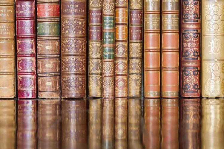 Books Bookshelf Reading Book Reflection Library