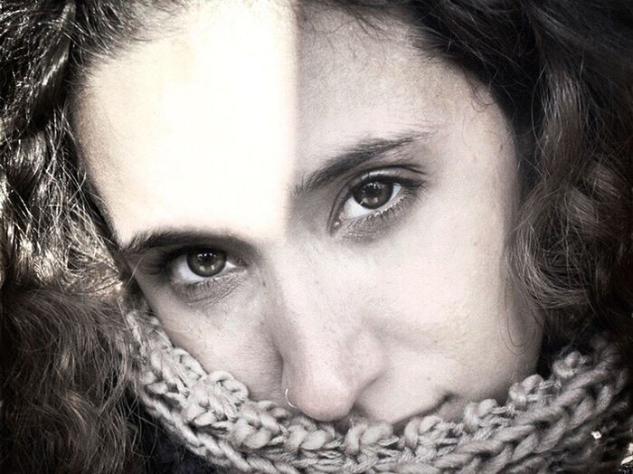 Looking At Camera Real People Human Face Portrait Lifestyles Headshot One Person Close-up Women Young Adult Young Women Indoors  Human Body Part Day Adult People Self Portrait Blackandwhite Photography EyeEmNewHere Front View Soulnature_
