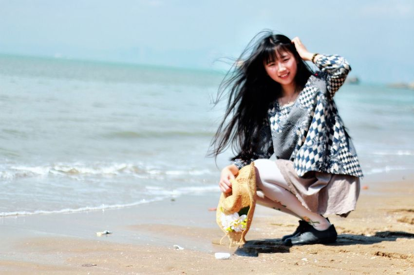 sea and you Portrait Photography Portrait Taking Photos Lovely Weather Beautiful Day Morning Holiday Sea Sand Hi!