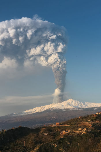 Smoke - Physical Structure Mountain Volcano Geology Erupting Environment Sky Beauty In Nature Landscape Scenics - Nature Active Volcano Power Power In Nature Nature Emitting Non-urban Scene Day No People Land Physical Geography Outdoors Pollution Volcanic Crater Air Pollution Mountain Peak