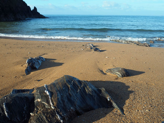 Blue Sea Hope Cove South Devon Beach Beach Scene  Beauty In Nature Day England Horizon Over Water Nature No People Ocean Outdoors Rock - Object Rocks Sand Sandy Beach Scenics Sea Sky South Hams Tranquil Scene Tranquility Water Waves