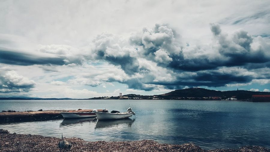 The Great Outdoors With Adobe Sea Sky Clouds Fishing Boats From My Point Of View Cloudporn Sky_collection Seascape EyeEm Nature Lover Planet Earth The Great Outdoors - 2016 EyeEm Awards Malephotographerofthemonth Sky And Clouds Skyporn Clouds And Sky Beauty In Nature Nature_collection Lifeisbeautiful Beautiful Nature Skylovers Seaside Sea And Sky Cloudscape Cloud_collection  Landscape_photography Backgrounds