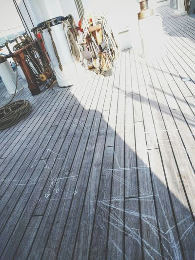 The Main Deck on the Tall Ship Wylde Swan Outdoors Northsea Sea Decking Planks Chalk Lessons Rope No People EyeEmNewHere