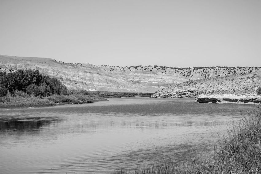 Dinosaur National Monument Beauty In Nature Blackandwhite Clear Sky Day Lake Landscape Mountain Nature No People Outdoors Scenics Sky Tranquil Scene Tranquility