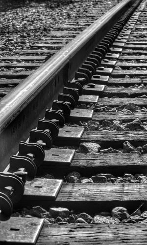 If your train of thought is going nowhere... switch tracks! ;) Black&white Monochrome Hrd Train Tracks