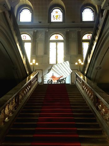 Samotracia Palazzo Litta Samotracia Architecture Indoors  Built Structure Staircase Window Steps And Staircases Day