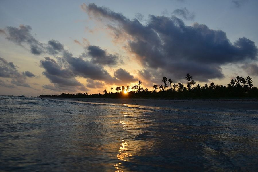 Sunset Sun Going Down Water Beach End Of The Day Vacations Peace Paradise Praia Do Toque Maceió Sand Sum