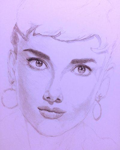 オードリーヘップバーン オードリー MyDrawing Art, Drawing, Creativity Hello World Audrey Hepburn ArtWork Drawing