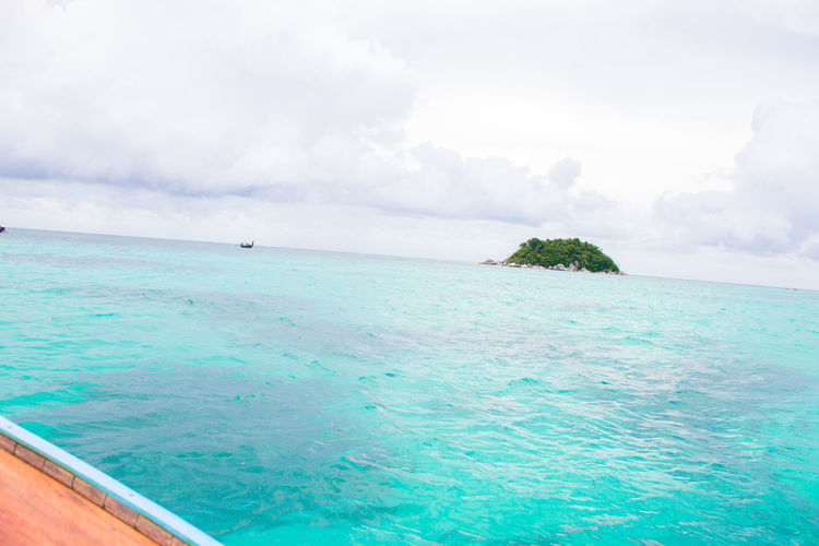 Sky & Sea Beauty In Nature Cloud - Sky Day Horizon Horizon Over Water Idyllic Lagoon Land Nature Nautical Vessel No People Outdoors Scenics - Nature Sea Sky Tranquil Scene Tranquility Turquoise Colored Water Waterfront