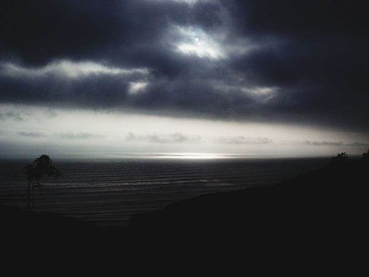 Black day Blackclouds Relaxing Ocean View Sadness