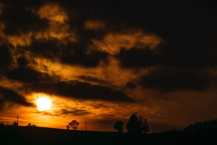 LANDSCAPE, sunset, France, paysage, sun, clouds, sky, ciel, nuages, beaujolais, view, panorama, fantastique, darkness,
