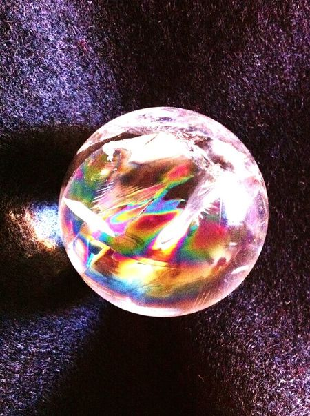 Rainbow Colors Sphere Glass Check This Out Cool Stuff....amazing Mother Earth
