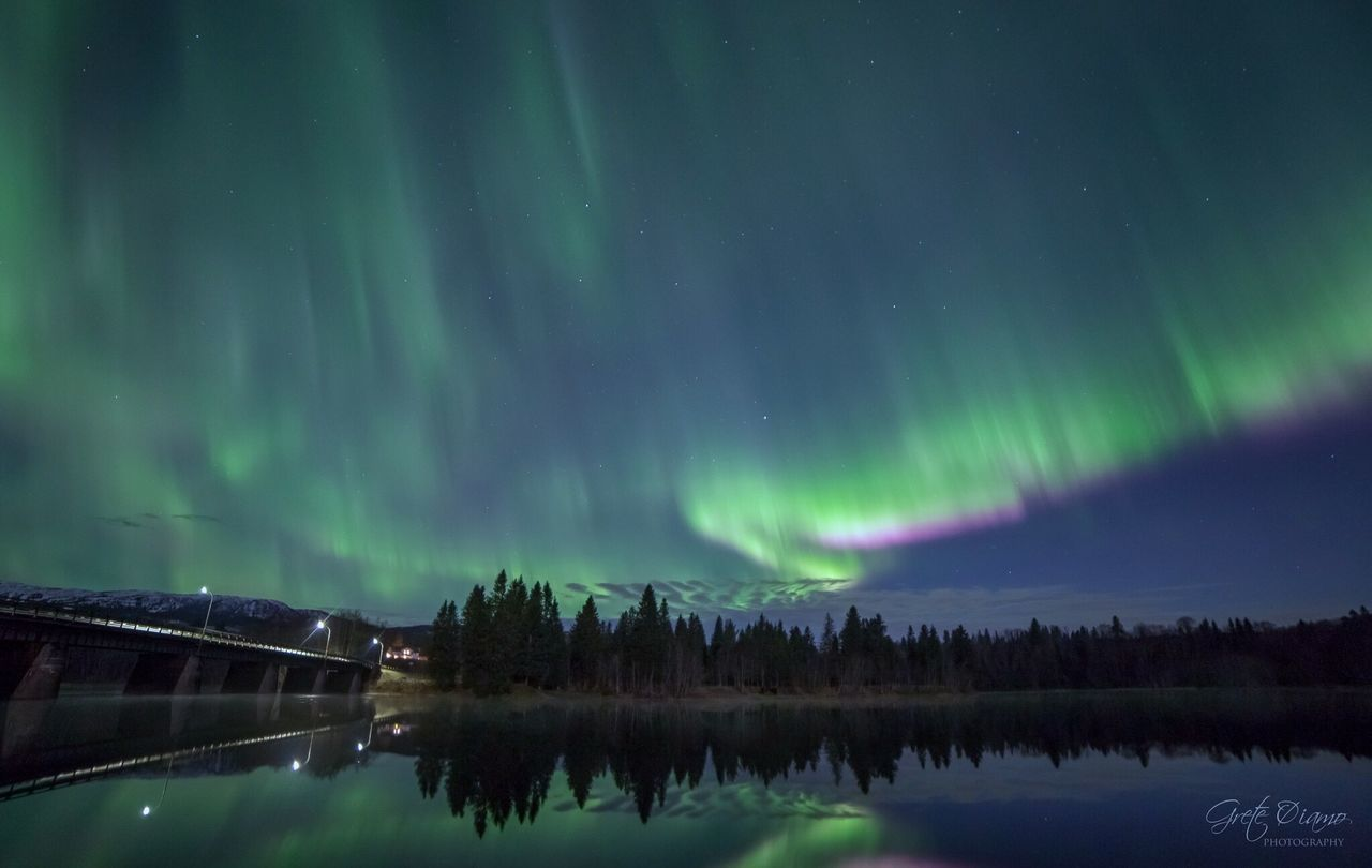 night, beauty in nature, nature, reflection, aurora polaris, water, scenics, green color, star - space, lake, tranquil scene, sky, tranquility, outdoors, no people, winter, astronomy, tree, mountain, cold temperature, snow, space, galaxy