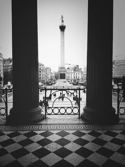 Nelson In The Middle Streetphotography Blackandwhite London WeAreJuxt.com TheMinimals (less Edit Juxt Photography) Streetphoto_bw Andrographer Shootermag Nelson Middle Architecture