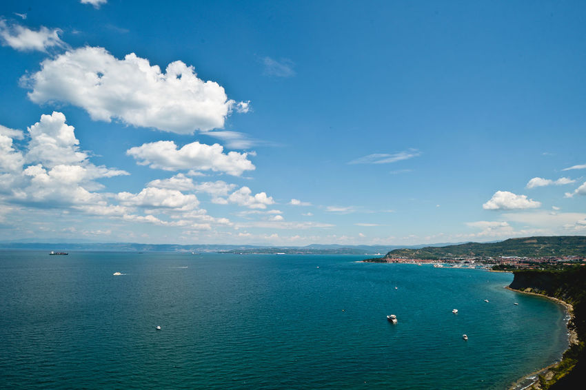 Beauty In Nature Blue Blue Sky Cloud - Sky Day Horizon Over Water Izola Mer Nature No People Outdoors Scenics Sea Seascape Seaside Seaside_collection Sky Slovenia Summer Summer Views Summertime The Great Outdoors - 2017 EyeEm Awards Tranquil Scene Tranquility Water