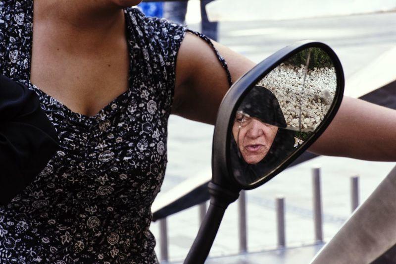 Streetphotography Standing EyeEm Street Photography Street Urban Reflection Urbanphotography People Broken Mirror Istanbul Geometry Urban Geometry Human Hand Sky Close-up Travel Side-view Mirror Vehicle Mirror The Portraitist - 2018 EyeEm Awards
