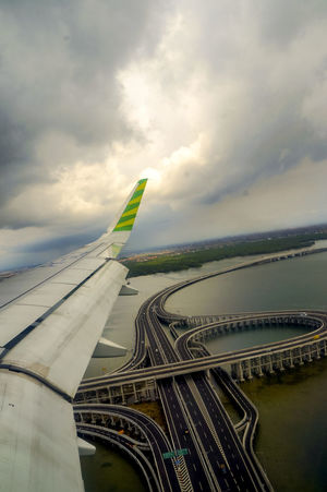 Bali Mandara Toll Road Bali, Indonesia INDONESIA Airplane Architecture Bridge Built Structure Mode Of Transportation No People Toll Road Tourism Transportation Travel Aircraft Wing Airplane Wing