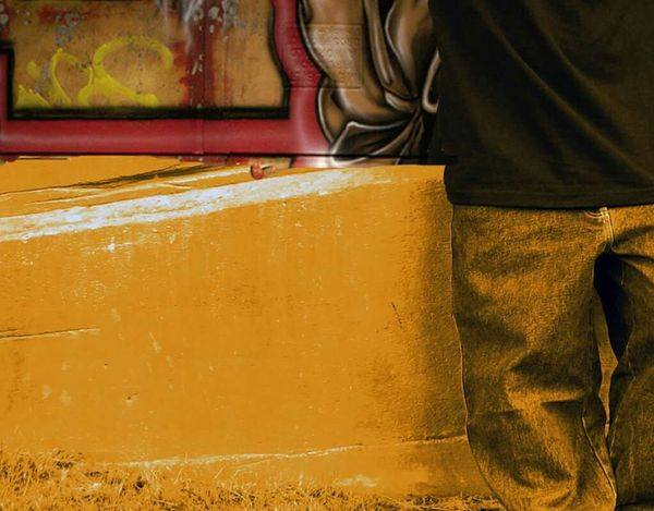 """""""Lazy jeans"""" - OmegatainmentStreetart Wallpaper Collage Graffiti HipHop Jeans Hanging Around"""