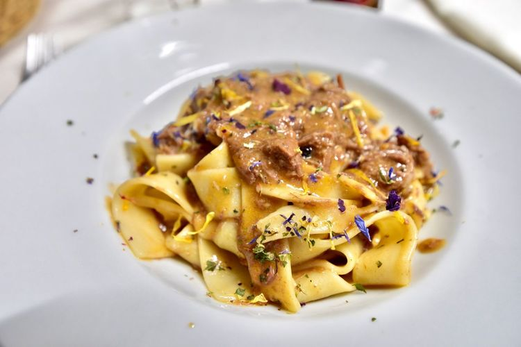 pasta パスタ Food And Drink Food Pasta Italian Food Plate Freshness Ready-to-eat Serving Size Healthy Eating Wellbeing Indoors  Close-up Garnish High Angle View No People Vegetable Still Life Meal Indulgence Temptation