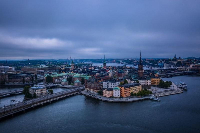 High angle view of stockholm