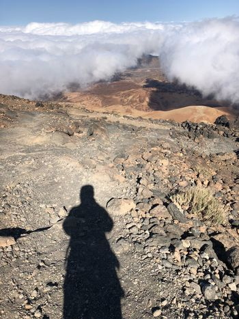 Heading toward the Summit of Volcano Teide, Tenerife Nofilter SPAIN Tenerife Volcano Teide Mount Teide Shadow Nature Sunlight Day Land Landscape Environment Desert Outdoors Tranquil Scene Mountain Tranquility Cloud - Sky Scenics - Nature Geology Sky Summer Exploratorium #FREIHEITBERLIN The Traveler - 2018 EyeEm Awards
