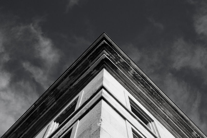 Façade Urban Geometry Architecture Architecture_bw Building Exterior Built Structure Cloud - Sky Day Lookingup Low Angle View No People Outdoors Sky